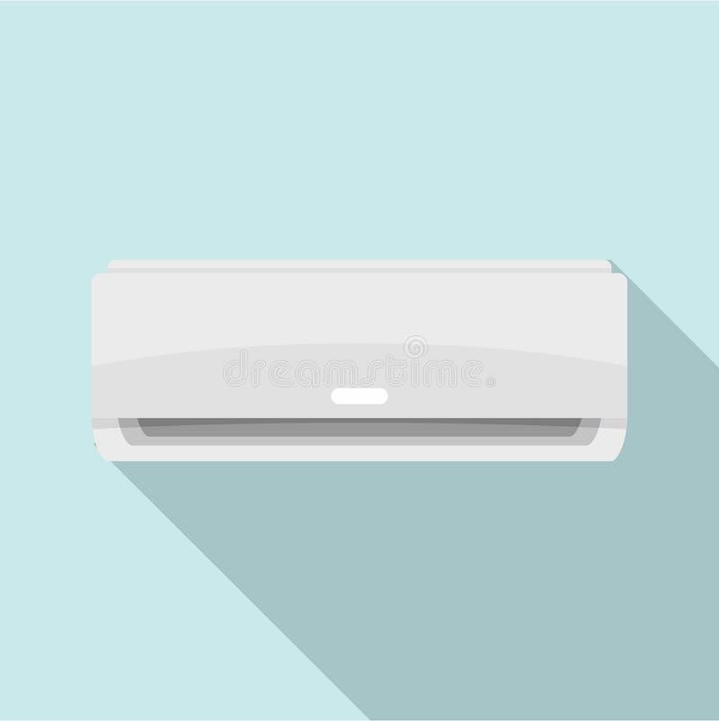 Ícone comercial do condicionador, estilo liso ilustração royalty free