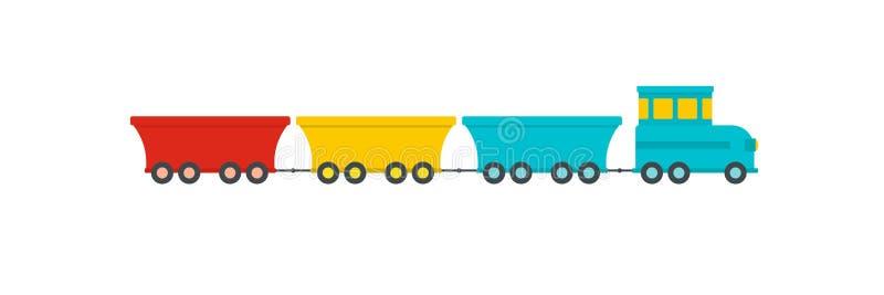 Ícone comercial do trem, estilo liso ilustração royalty free