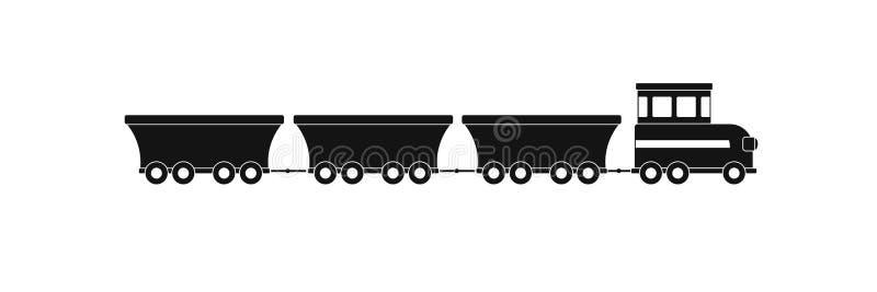 Ícone comercial do trem, estilo simples ilustração royalty free