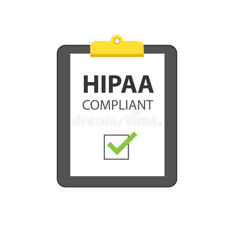 Ícone complacente de HIPAA ilustração royalty free