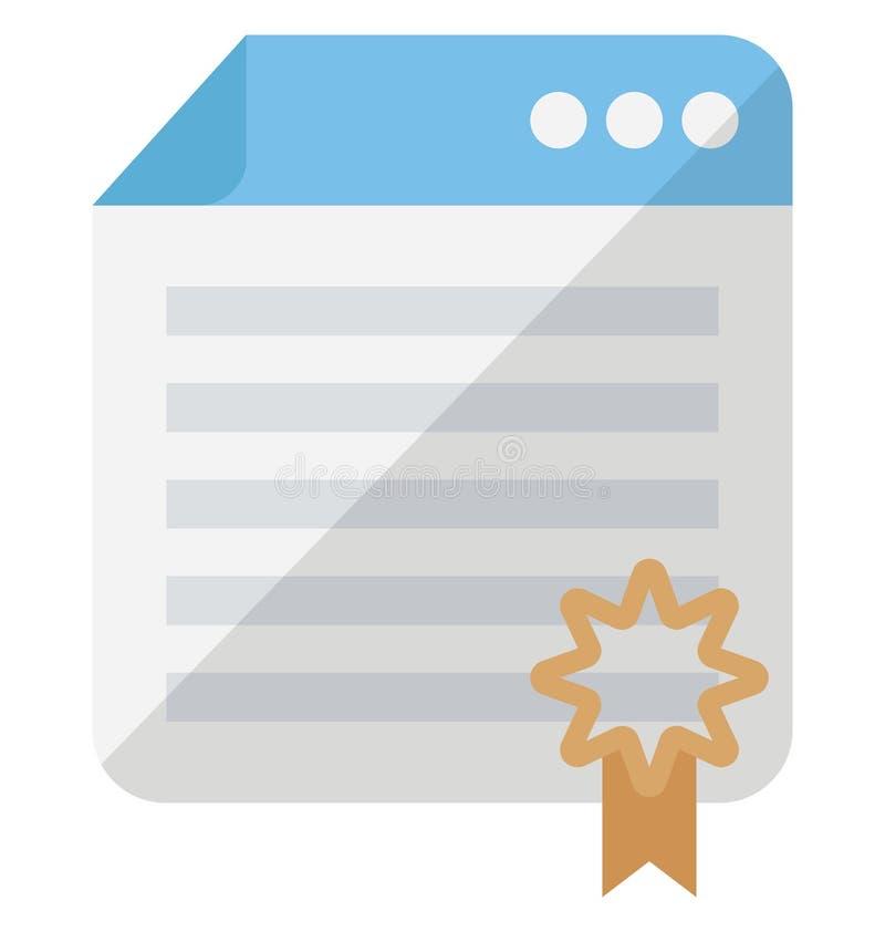 Ícone concedido do vetor do Web site que pode facilmente alterar ou editar ilustração stock