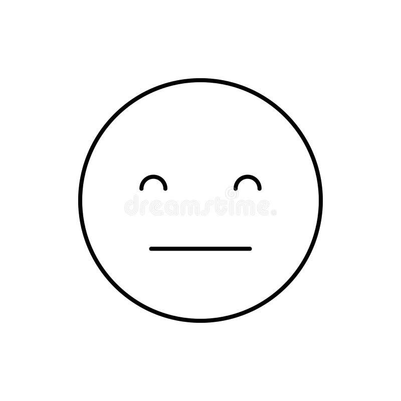 Ícone Concordar, sorrir, emoções Linha simples, expressão de vetor de contorno de ícones de humor para ui e ux, site ou aplicativ ilustração stock