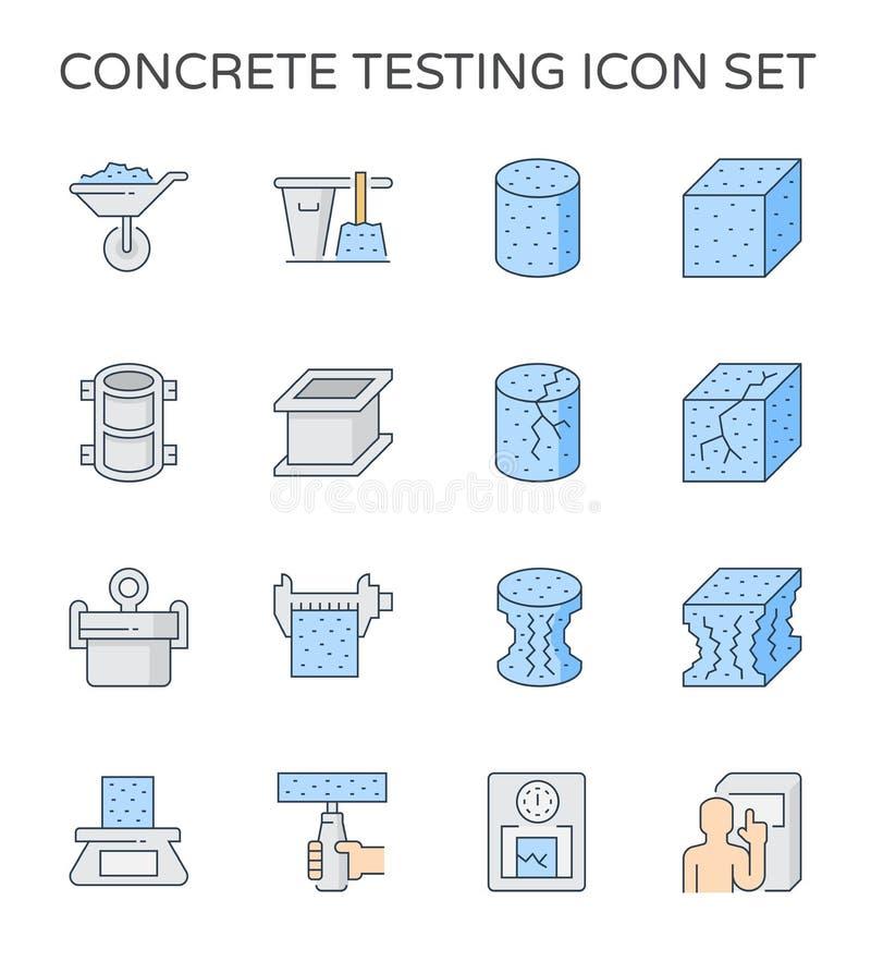 Ícone concreto dos testes ilustração do vetor