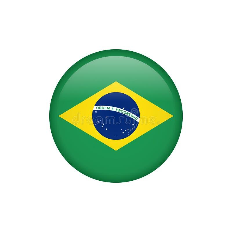 Ícone conservado em estoque 5 da bandeira de Brasil do vetor ilustração do vetor