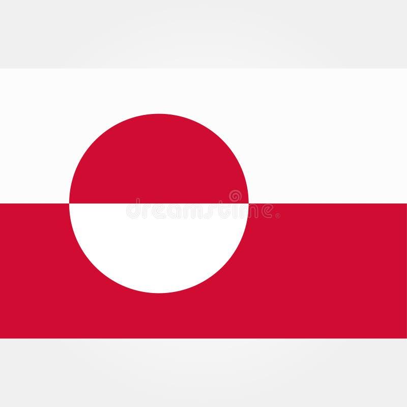 Ícone conservado em estoque 1 da bandeira de greenland do vetor ilustração stock
