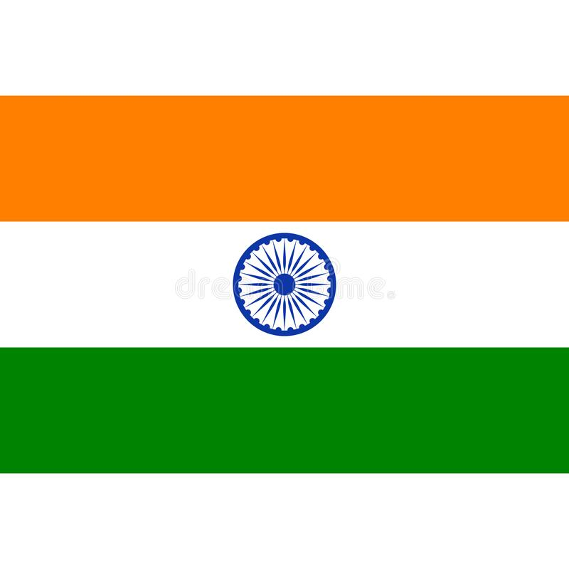 Ícone conservado em estoque 1 da bandeira de india do vetor ilustração royalty free