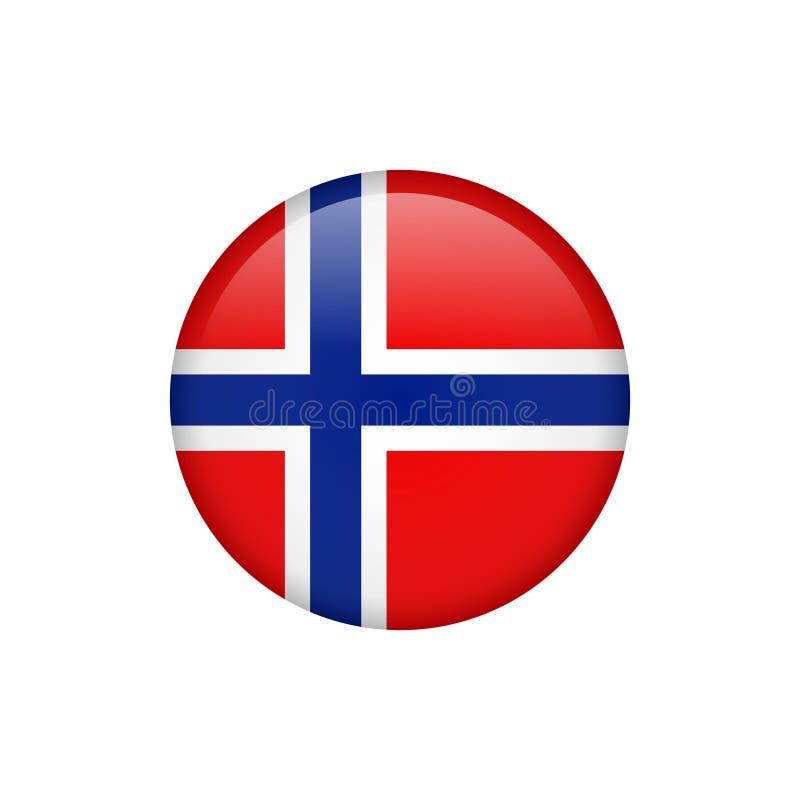 Ícone conservado em estoque 5 da bandeira de Noruega do vetor ilustração stock