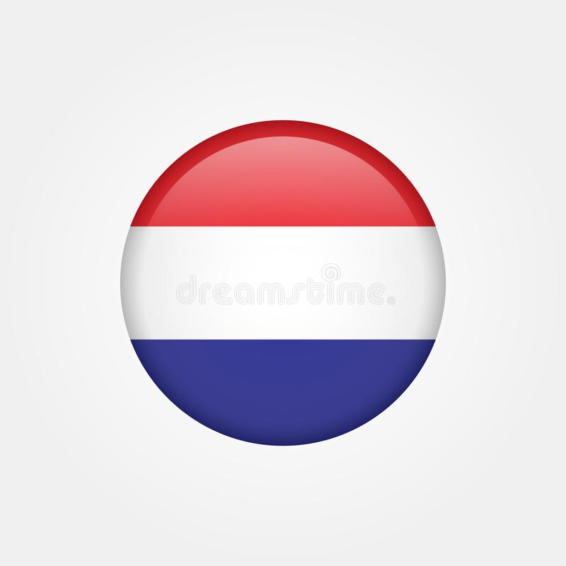 Ícone conservado em estoque 5 da bandeira do netherland do vetor ilustração royalty free