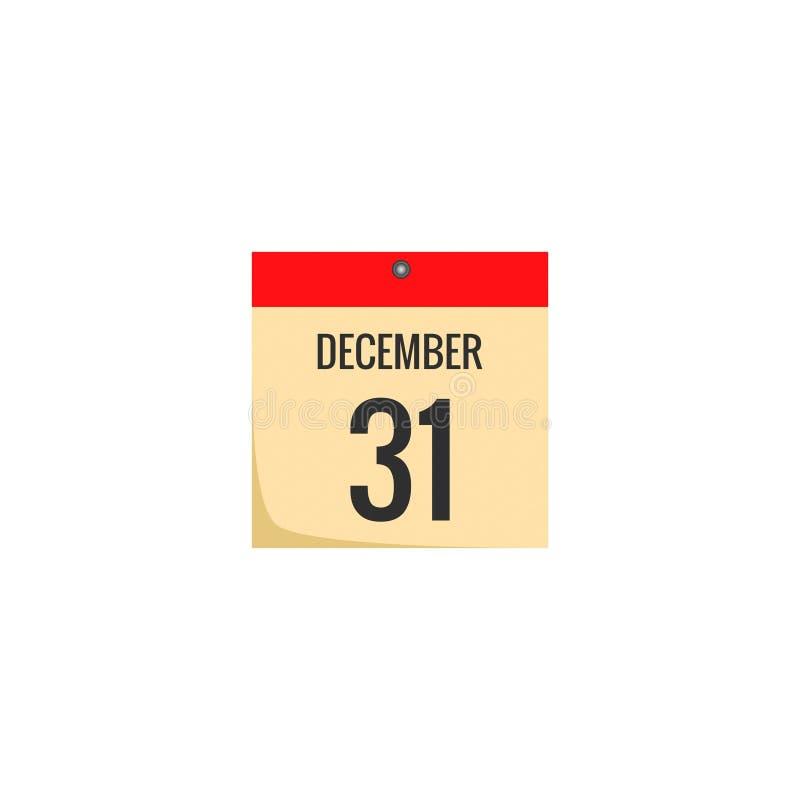 Ícone conservado em estoque 8 do calendário do vetor ilustração royalty free