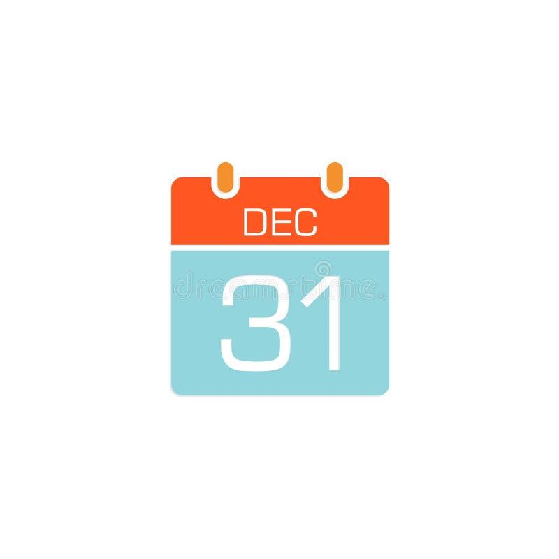 Ícone conservado em estoque 6 do calendário do vetor ilustração stock