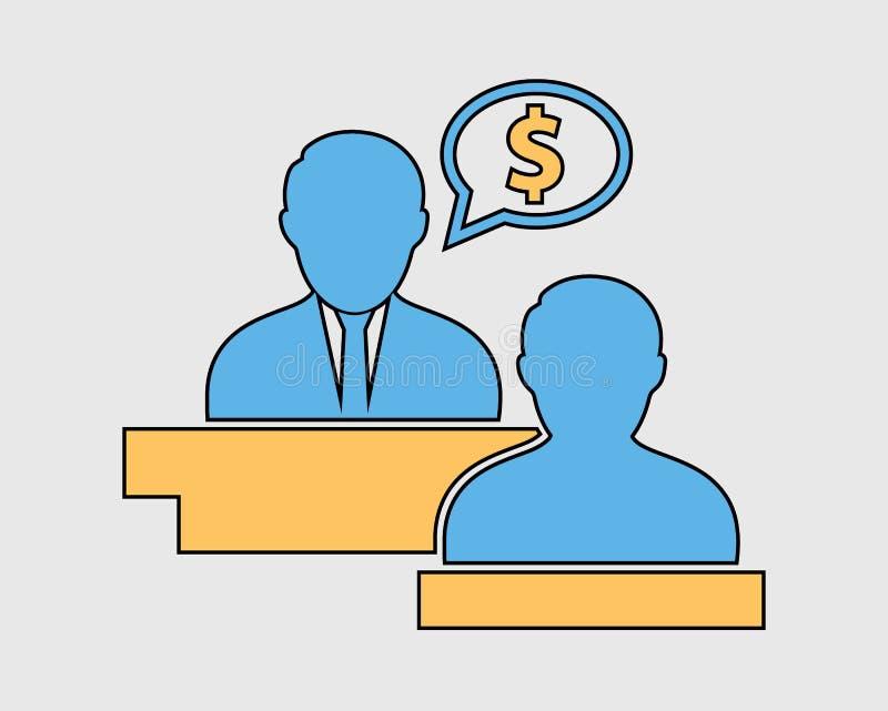 Ícone consultivo do imposto colorido ilustração stock