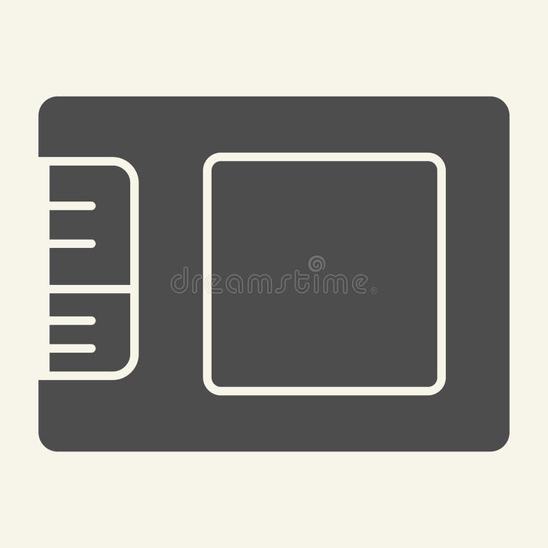 Ícone contínuo da movimentação do SSD Ilustração do vetor do armazenamento isolada no branco Projeto do estilo do glyph da memóri ilustração do vetor