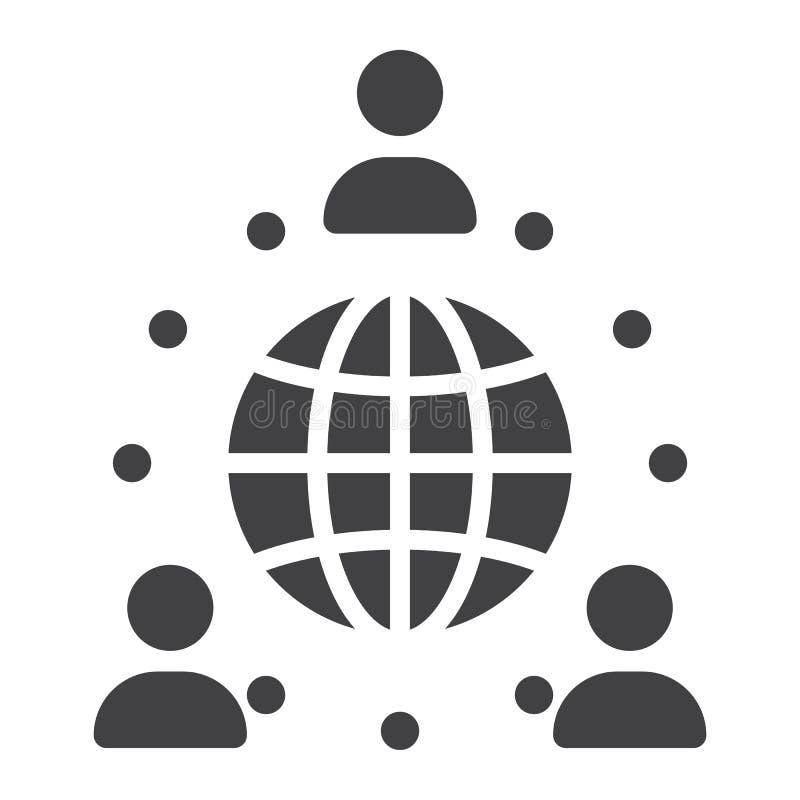Ícone contínuo da parceria global, negócio ilustração royalty free