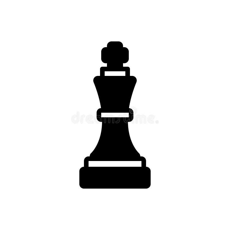 Ícone contínuo para a vantagem tática, estratégico pretos e a vantagem ilustração do vetor