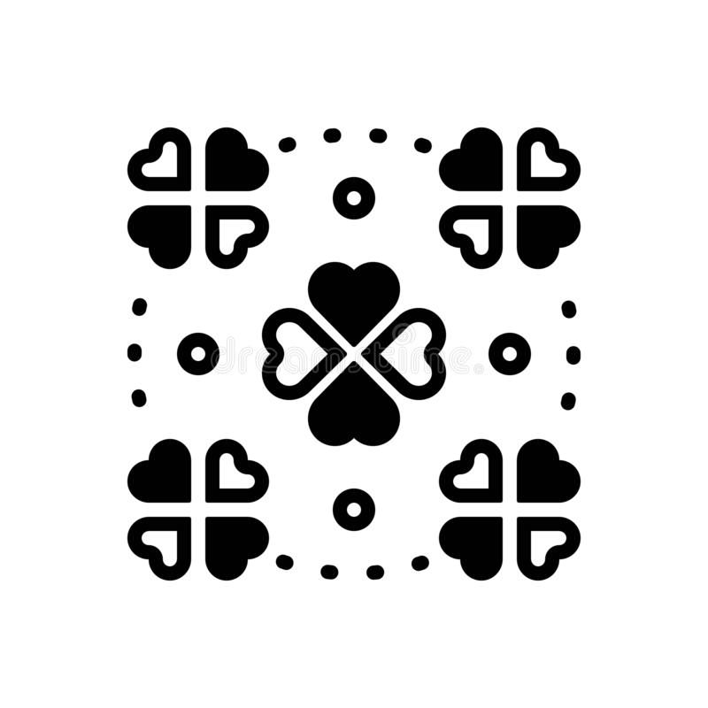 Ícone contínuo preto para fortuito, ocasional e contingente ilustração do vetor
