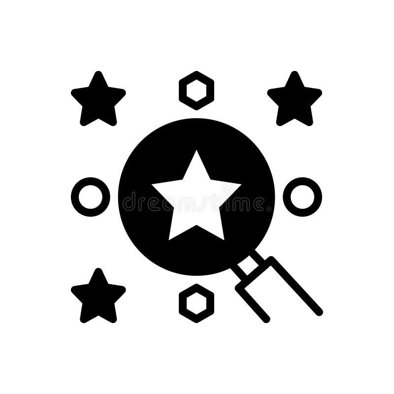 Ícone contínuo preto para a melhores escolha, revisão e esperto ilustração royalty free