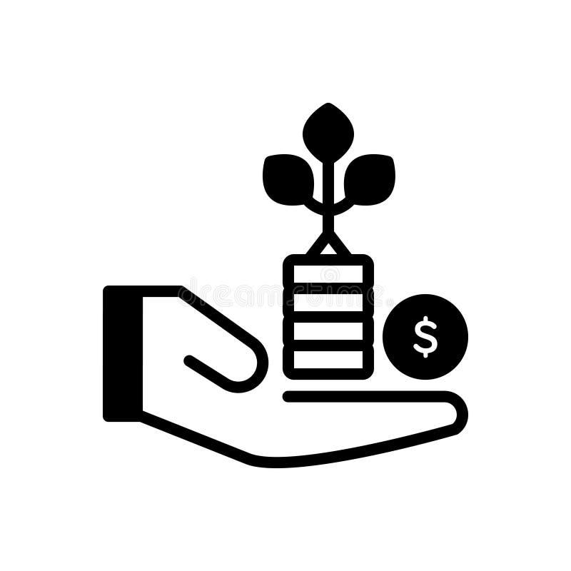 ?cone cont?nuo preto para o benef?cio, a vantagem e o lucro ilustração royalty free
