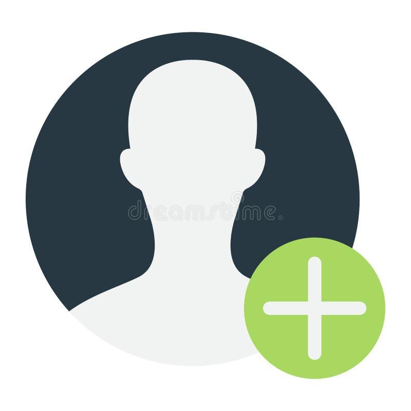 Ícone, conta e Web site lisos do perfil de usuário ilustração stock