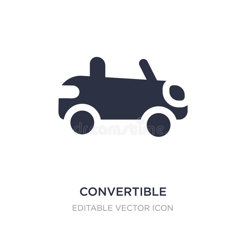 ícone convertível no fundo branco Ilustração simples do elemento do conceito do transporte ilustração do vetor