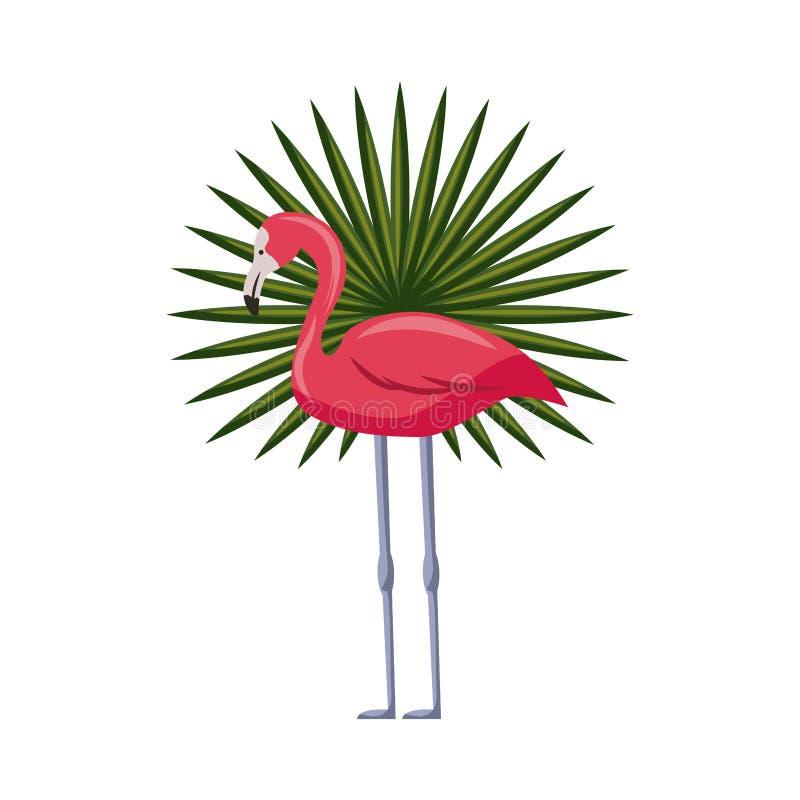 Ícone cor-de-rosa do flamingo ilustração royalty free
