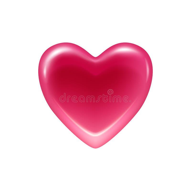 Ícone cor-de-rosa dos doces da geleia do coração ilustração do vetor