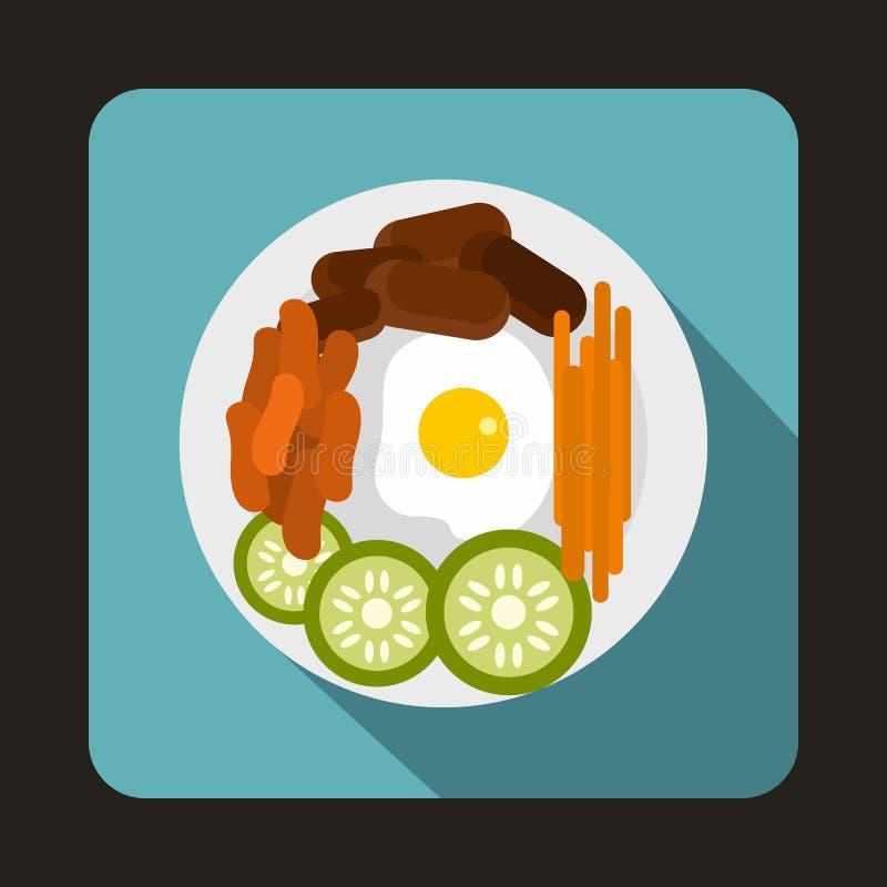 Ícone coreano do alimento no estilo liso ilustração stock