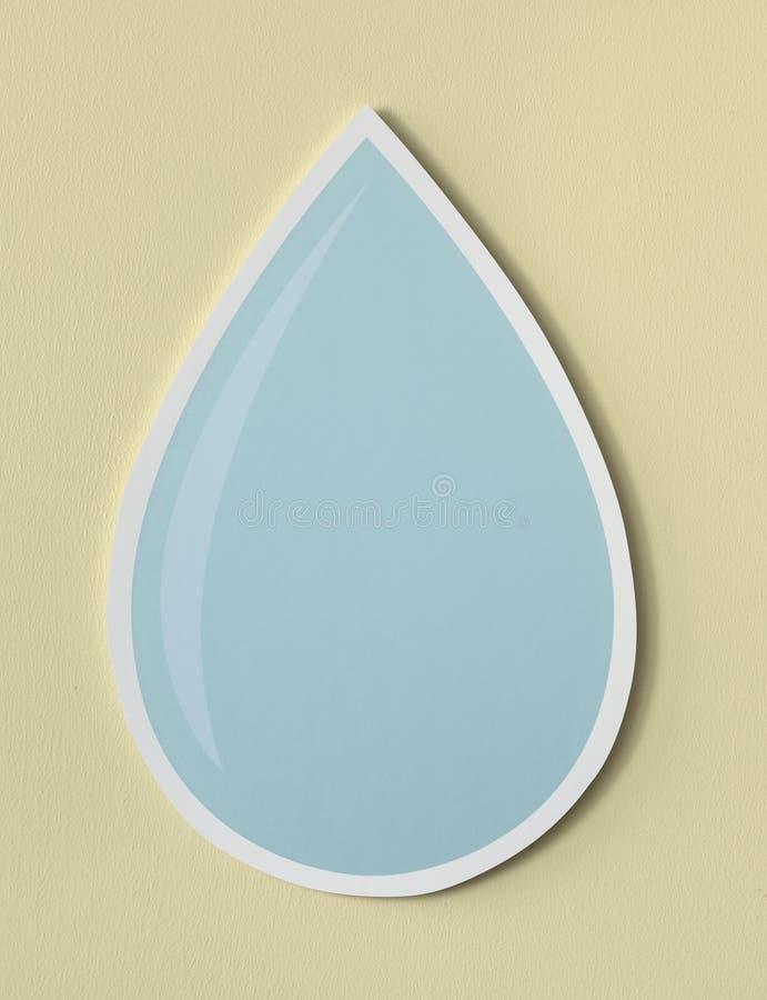 Ícone cortado gota da água ilustração royalty free
