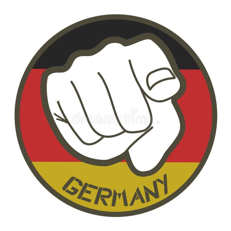 Ícone creativo de Alemanha ilustração stock