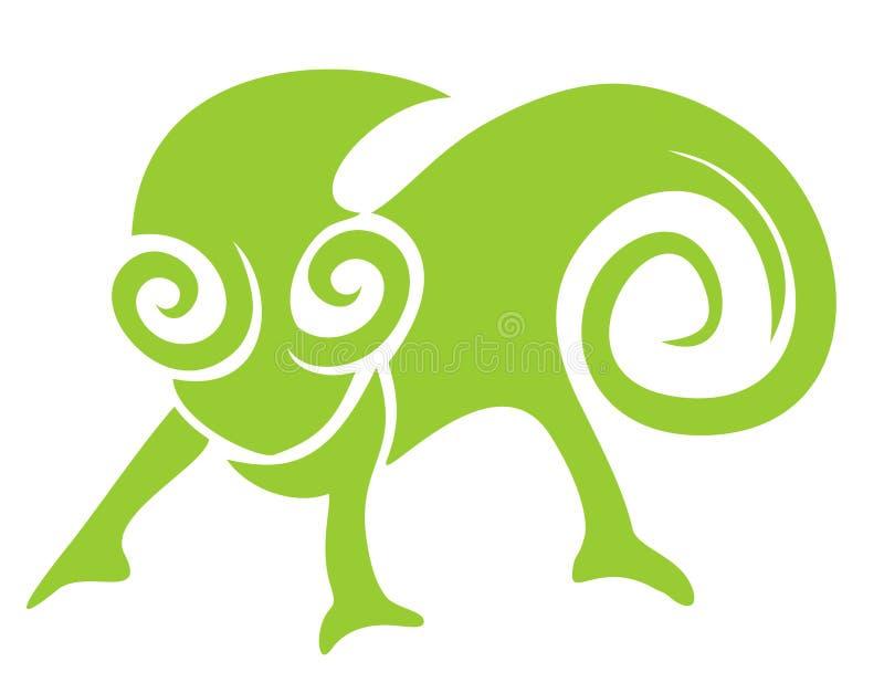 Ícone creativo do estilo do chameleon ilustração do vetor