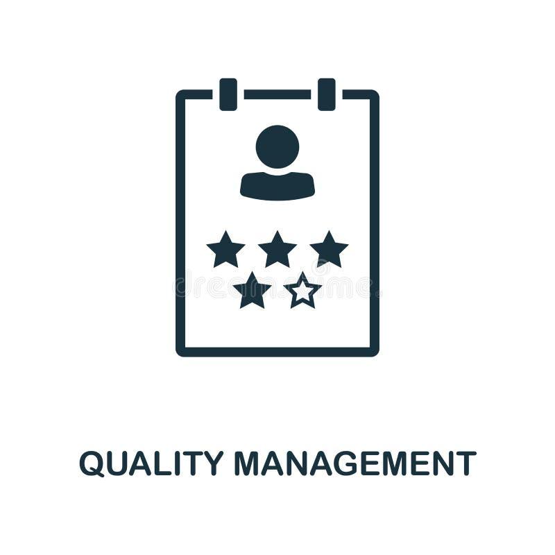 Ícone criativo da gestão de qualidade Ilustração simples do elemento Projeto do símbolo do conceito da gestão de qualidade do col ilustração do vetor