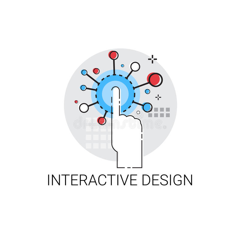 Ícone criativo da tecnologia do projeto interativo ilustração royalty free