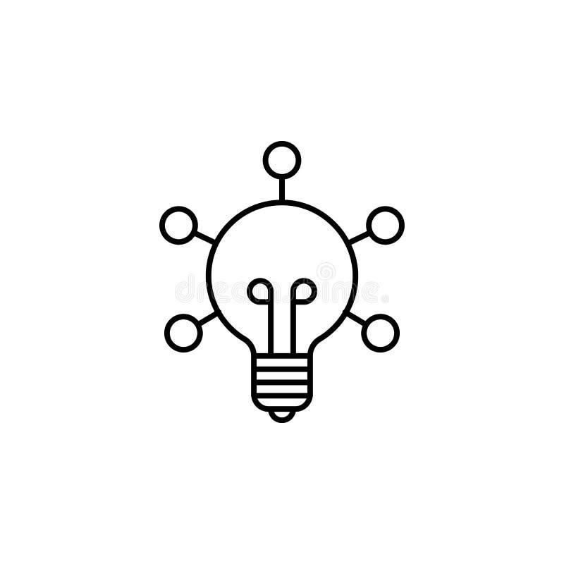 Ícone criativo do esboço da robótica Os sinais e os símbolos podem ser usados para a Web, logotipo, app móvel, UI, UX ilustração royalty free