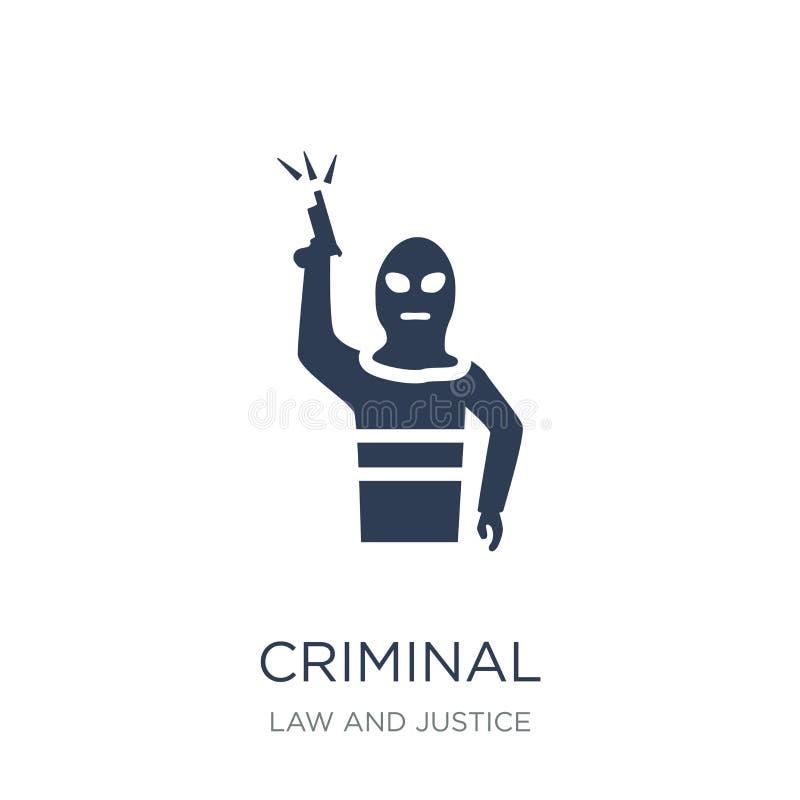 Ícone criminoso  ilustração royalty free