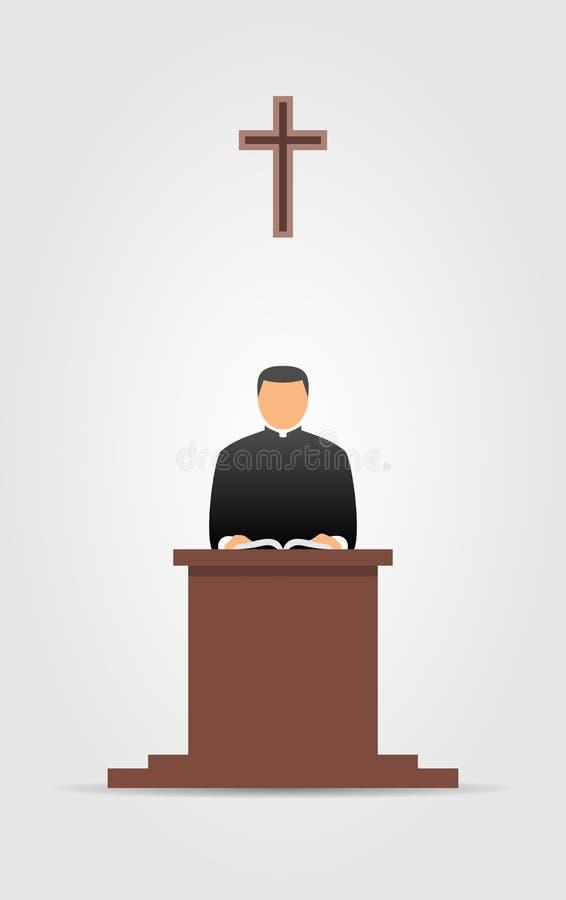 Ícone cristão do pastor Ilustração do vetor ilustração stock