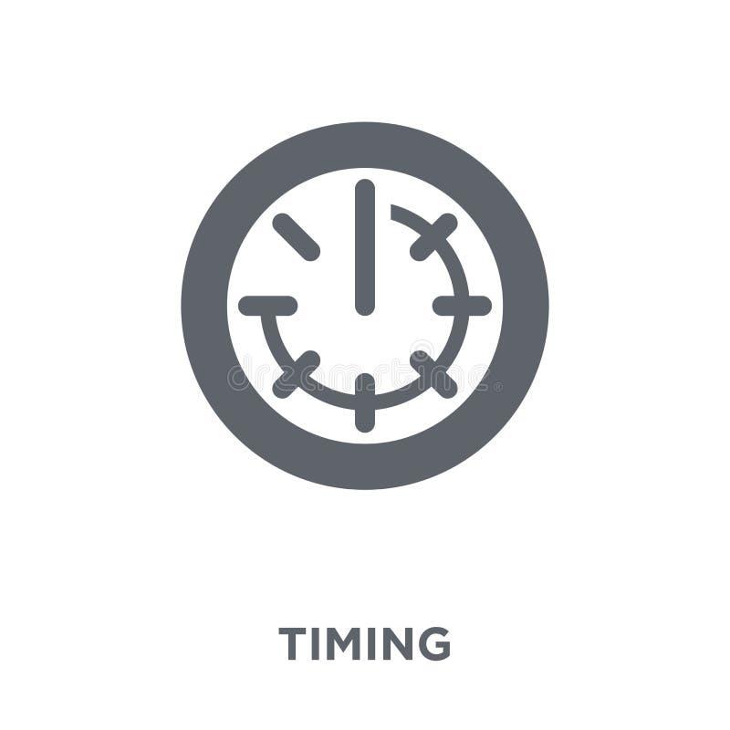 Ícone cronometrando da coleção do managemnet do tempo ilustração do vetor