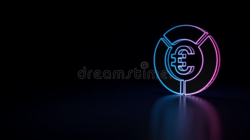 ícone 3d da carta de torta ilustração stock