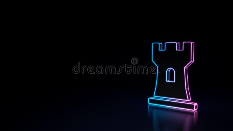 ícone 3d da gralha ilustração royalty free