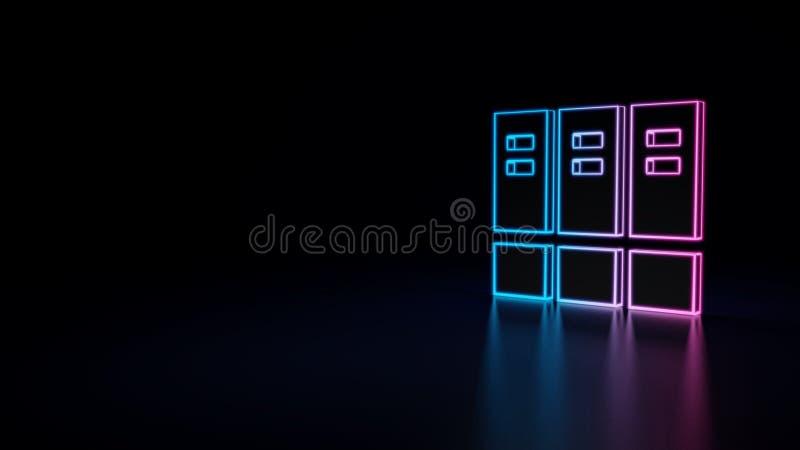 ícone 3d do arquivo ilustração stock