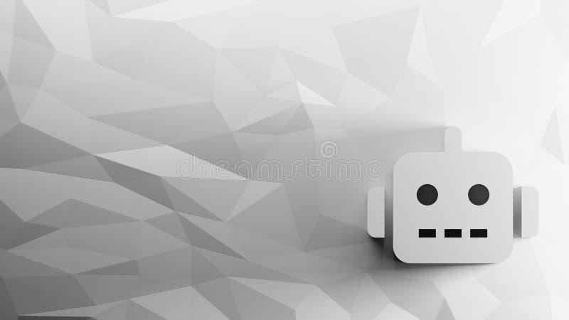ícone 3d do robô ilustração stock