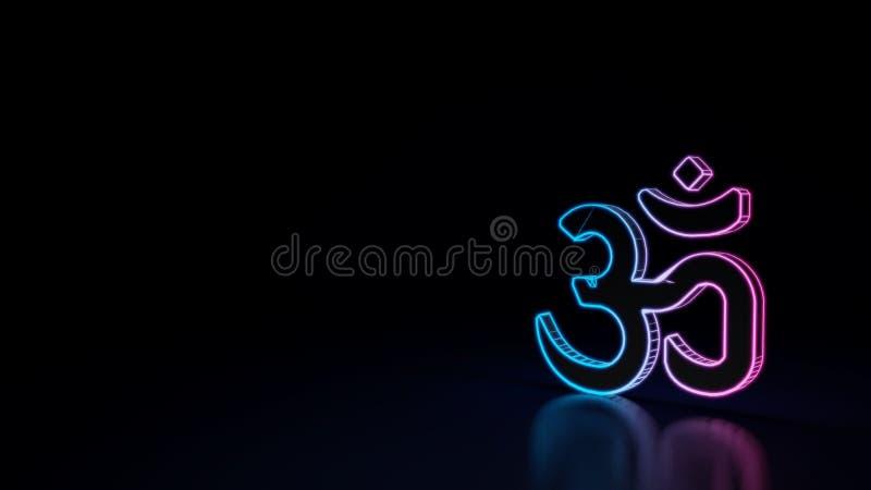 ícone 3d do símbolo do OM ilustração stock
