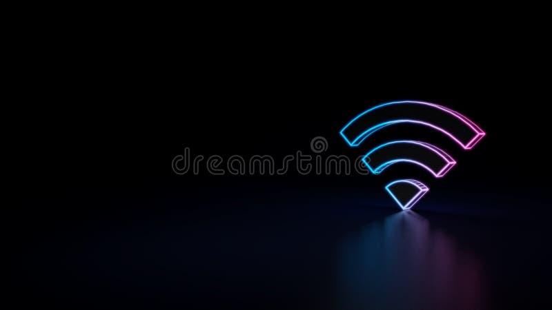 ícone 3d do wifi ilustração stock
