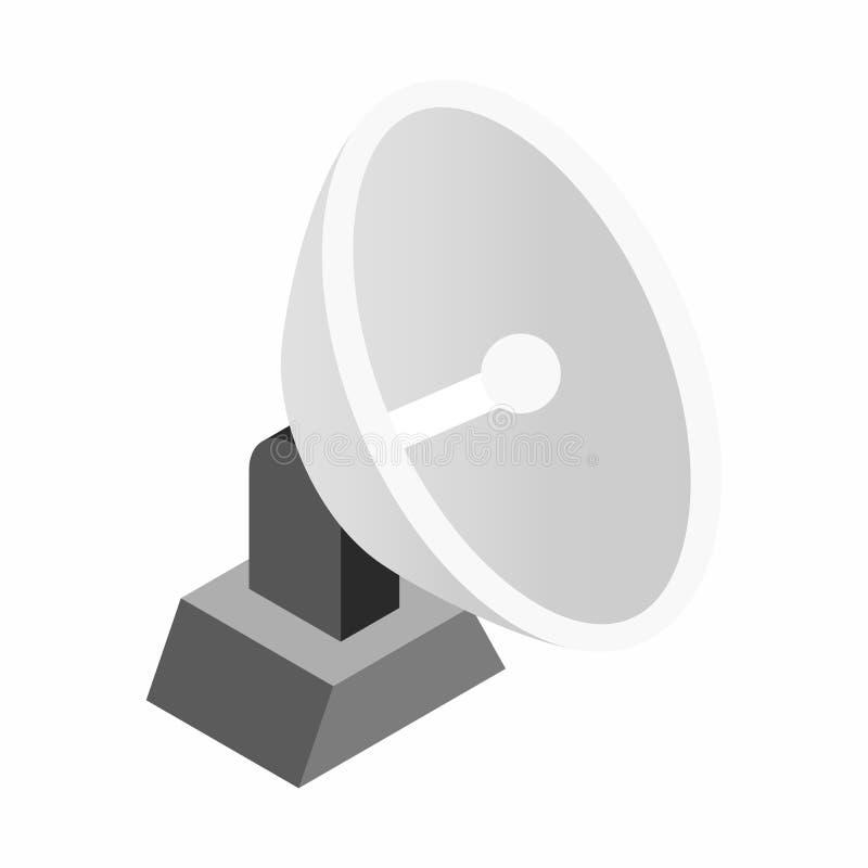 Ícone 3d isométrico aereal parabólico ilustração royalty free