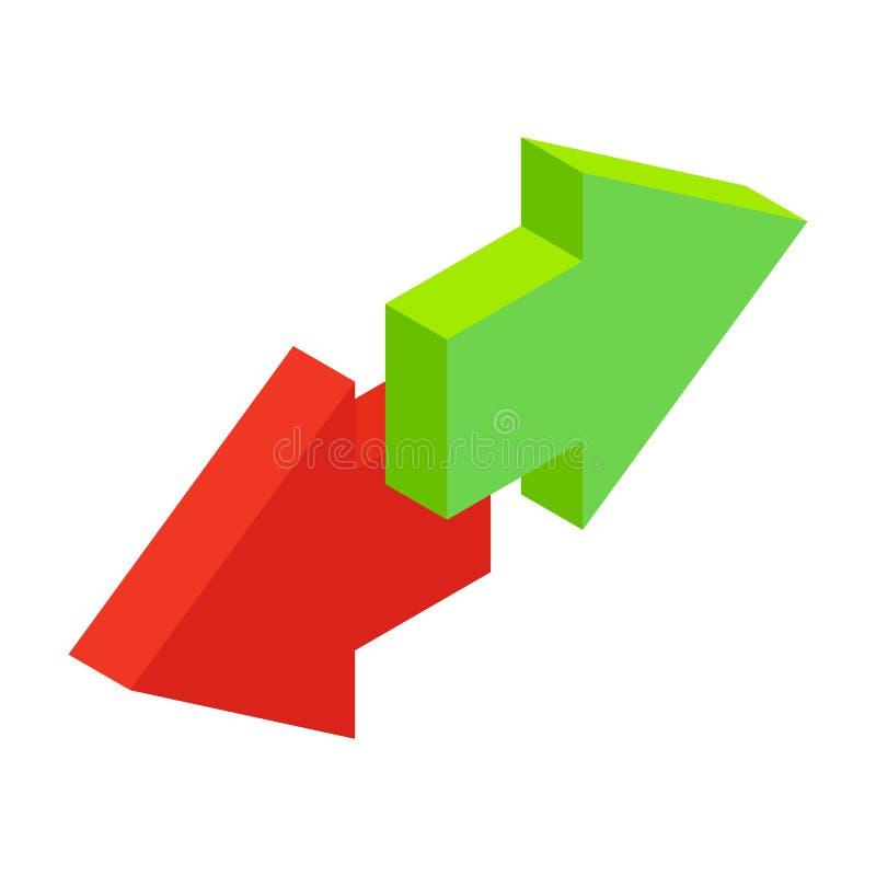 Ícone 3d isométrico das chamadas que parte de chamadas entrantes ilustração do vetor
