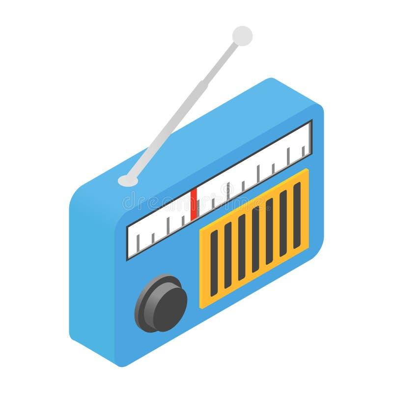 Ícone 3d isométrico de rádio ilustração stock