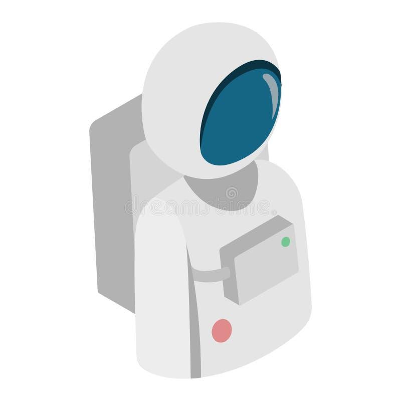 Ícone 3d isométrico do astronauta ilustração do vetor