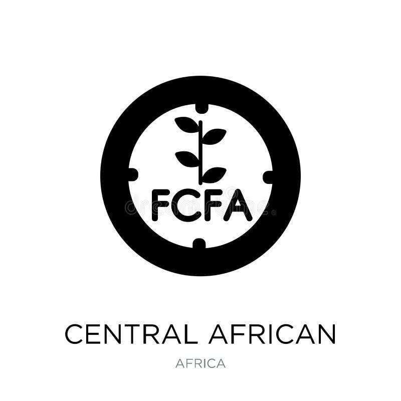 ícone da África Central do franco no estilo na moda do projeto ícone da África Central do franco isolado no fundo branco franco d ilustração stock