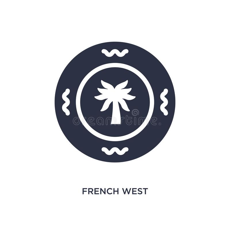 ícone da África Ocidental francês do franco no fundo branco Ilustração simples do elemento do conceito de África ilustração do vetor