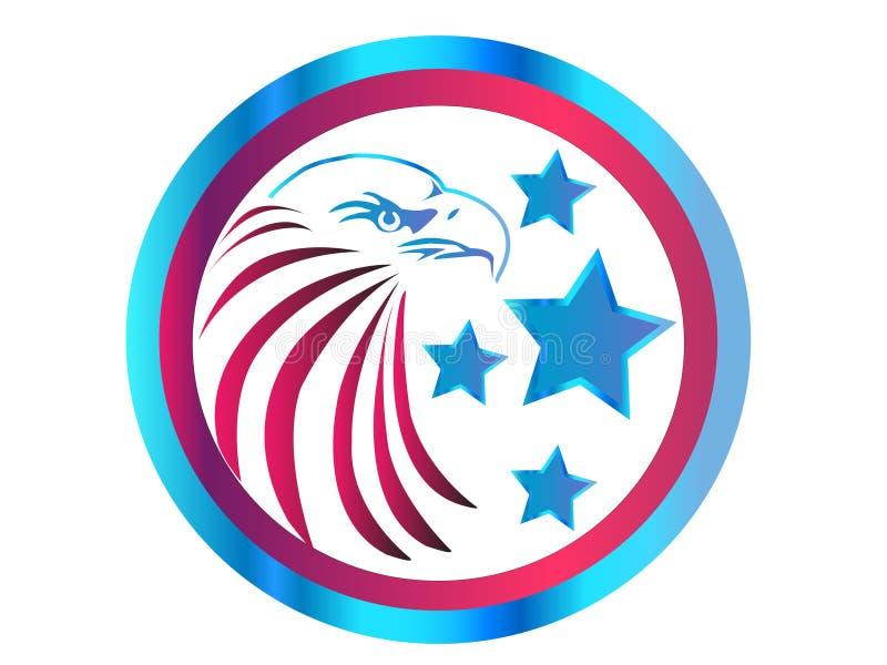 Ícone da águia ilustração do vetor