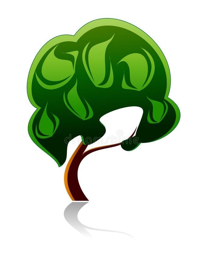 Ícone da árvore ilustração stock