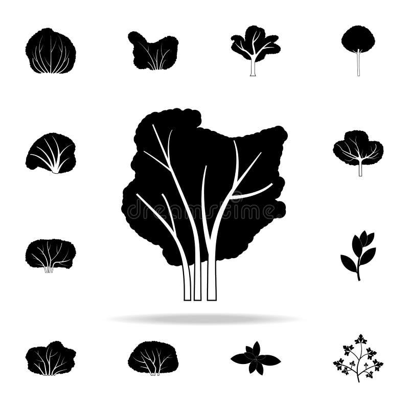 ícone da árvore da amora-preta Grupo universal dos ícones das plantas para a Web e o móbil ilustração stock